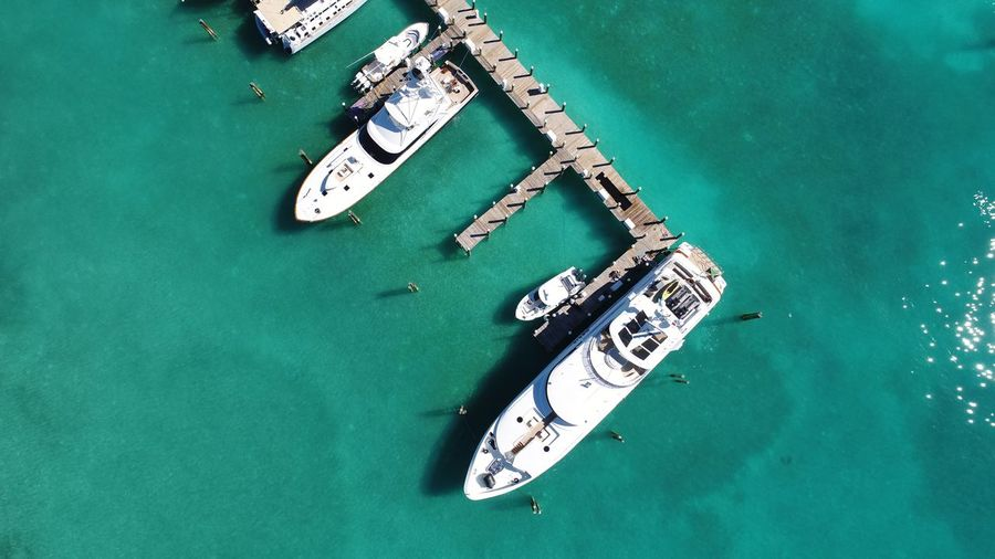 Valentines Marina Resort Dronephotography Harbour Island-Bahamas Bahamas Aerial Photography DJI X Eyeem Yacht Yachts EyeEm Selects Nautical Vessel High Angle View Water Transportation Waterfront Mode Of Transport Moored Ship No People Sea Day Aerial View Outdoors