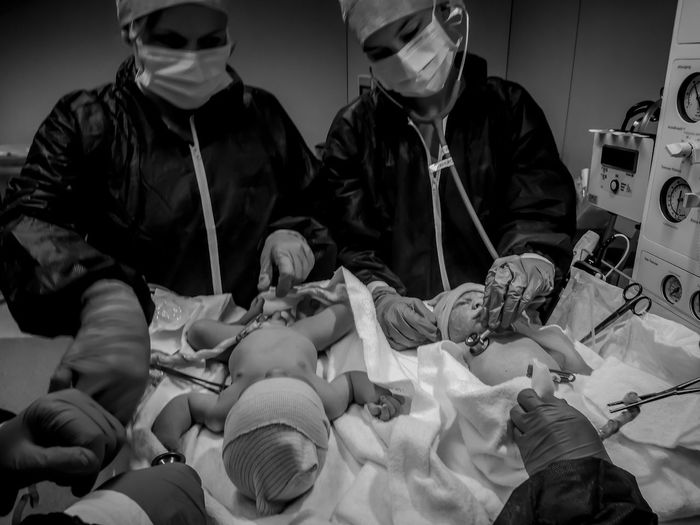 Baby Giving Birth Medicine Nursery Nurses TWINS ♥ Baby ❤ Birth Chirurgy Gynecological Chair Gynecologist Gynecology Health Medical Exam Medical Photography Medical School Medical University Midwife Midwifery Nurs Operation Operation Room © FauconGstudiosPro