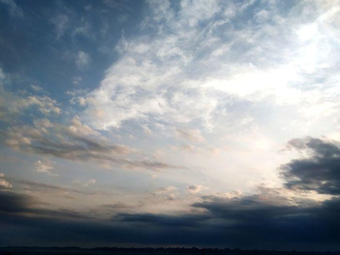Sunset Blue Backgrounds Multi Colored Sky Only Storm Cloud Dramatic Sky Sunlight Cloudscape Sky