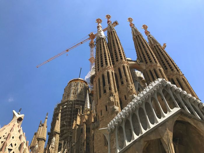 EyeEm Selects Architecture Built Structure Building Exterior Low Angle View History Travel Destinations Day Sky Outdoors No People Under Construction Segrada Familia SPAIN Barcelona 2017 The Architect - 2018 EyeEm Awards