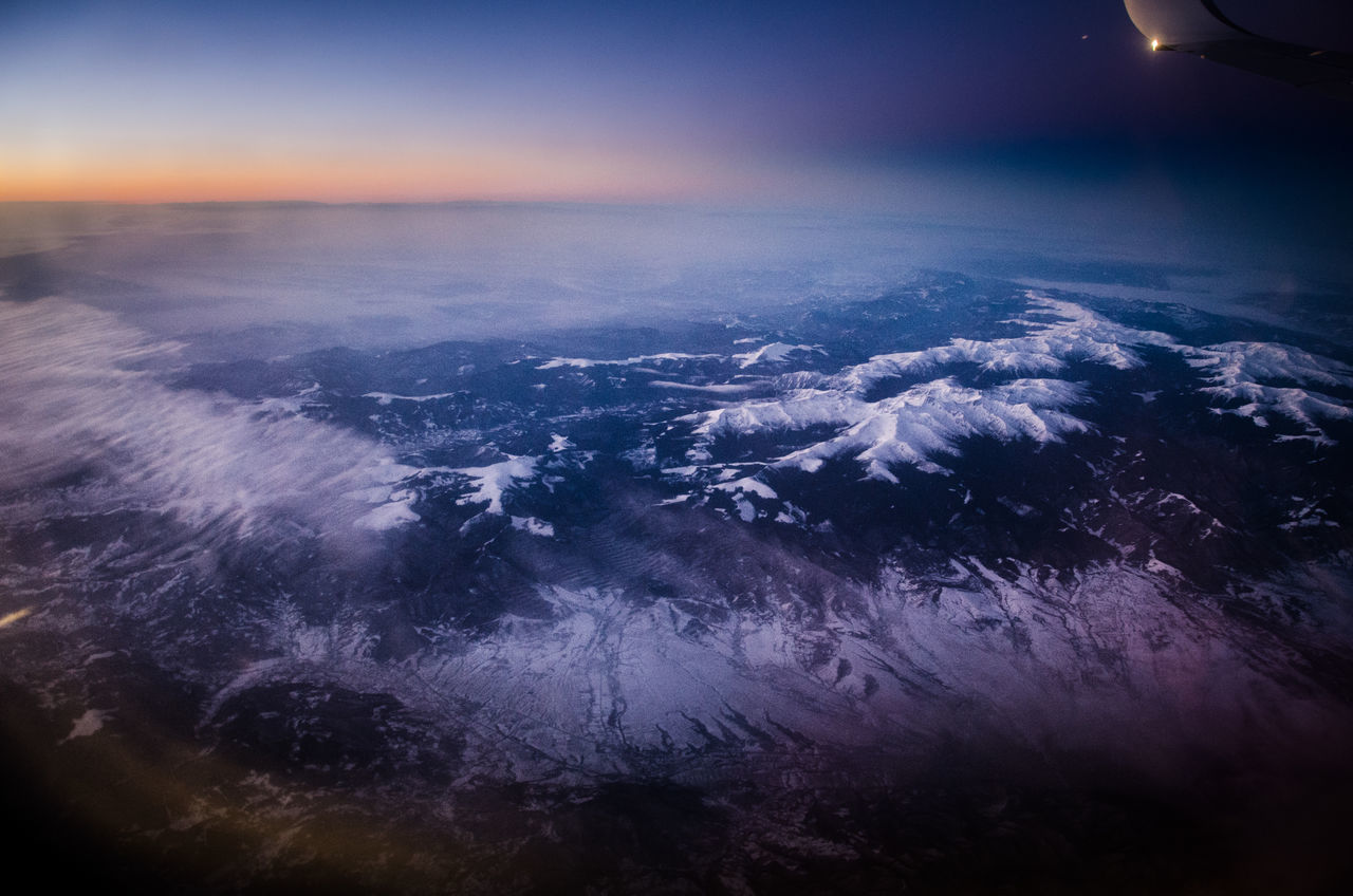 beauty in nature, nature, scenics, aerial view, geology, tranquil scene, outdoors, landscape, physical geography, tranquility, night, no people, volcanic landscape, sky, awe, sunset