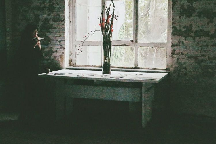 Pause. The 2014 EyeEm Festival & Awards Light And Shadow Flower Lady