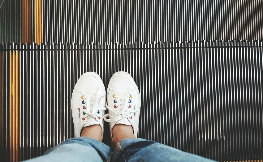 Superga. Low Section Person Human Foot Personal Perspective Day Photography Fun Outdoors Footpath Standing Casual Clothing Portrait Shoes Fashion&love&beauty Fashionstyle Fashion Casual Casual Look Casual Day Casualphotography White Whitesneakers