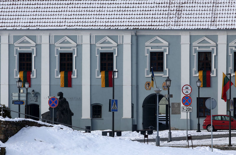 Kedainiai Old Town Lithuania Architecture Building Exterior Built Structure Cold Temperature Day Flag Independence Day Kėdainiai Lithuania Travel Nature Outdoors Snow Winter