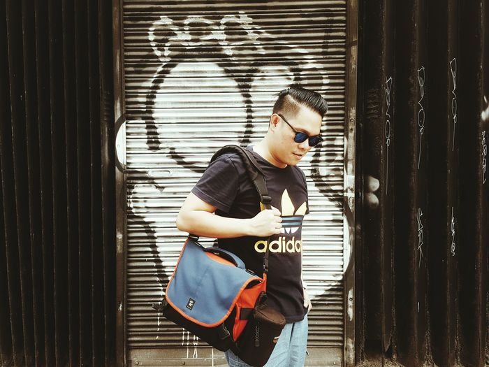 Thats me! Casual Clothing One Person Real People Lifestyles Skill  Standing Photography Photographer Selfie ✌ Addidas Crumpler Fujifilm_xseries Fujifilm Photography Eyeem Phonephotography Mirrorless Day Job  Traveller Travel Life Lifestyle Philippines Manila, Philippines Concentration Music Summertime Eyeem Philippines