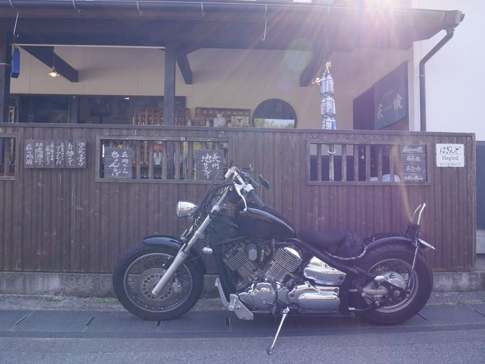 バルバルさん Moto Life いつか辿り着く場所 EyeEm Japanese View Transportation Mode Of Transportation Land Vehicle Bicycle Stationary Parking Architecture