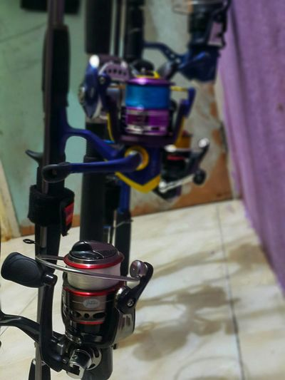 Close-up of bicycle on floor