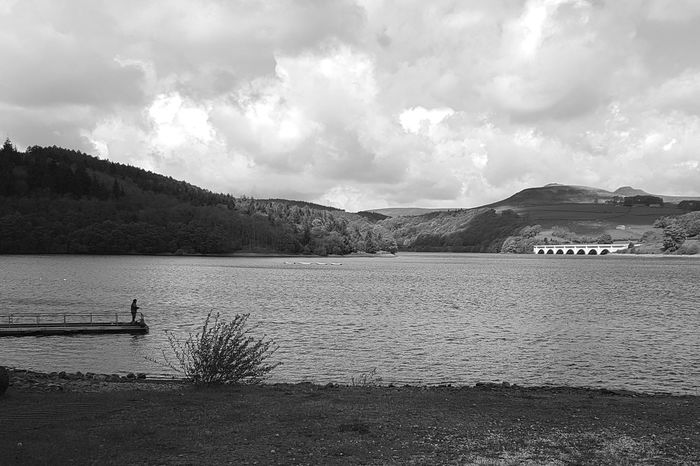 Live For The Story Lake Cloud - Sky Tranquility Bridge - Man Made Structure Gone Fishing Sky Monochrome Photography Landscape
