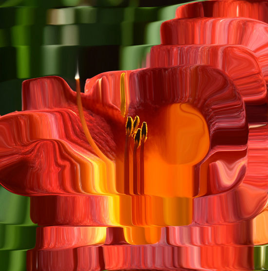 43 Golden Moments Showcase July Tealight Spiral Orange Flower Orange Color Distortions  Distortion Distort Art Candle Flower Adobe The Great Outdoors With Adobe Fine Art Photography Lily Flower