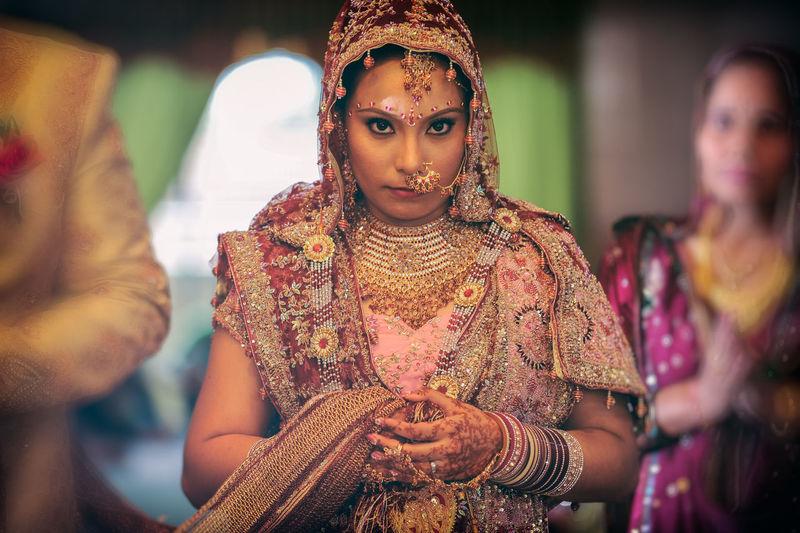Portrait of beautiful bride during wedding
