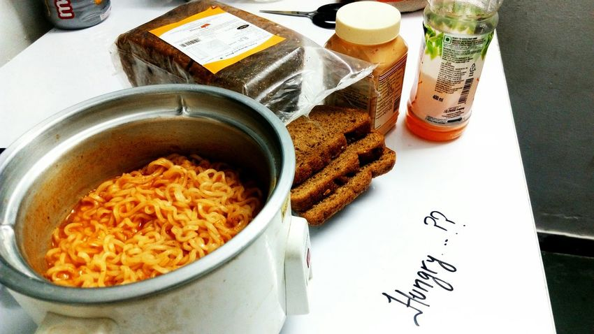 Only these things in dinner today...!! Food Foodphotography Foodlove Bread Cheese Maggie Noodles What's For Dinner? My Dinner