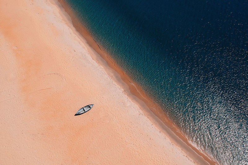 Backgrounds Beach Beauty In Nature Day High Angle View Land Motion Nature No People Non-urban Scene Outdoors Sand Scenics - Nature Sea Tranquil Scene Tranquility Travel Water