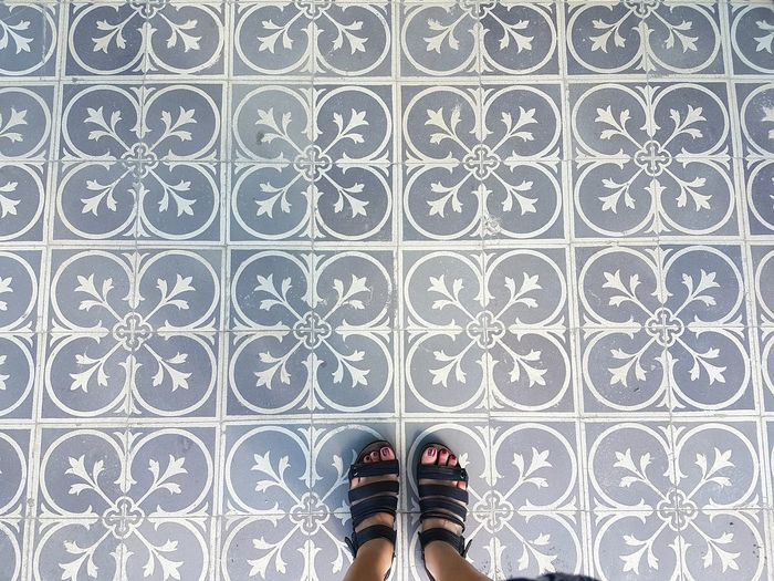 Shoe Human Body Part Directly Above One Person Pattern Personal Perspective Texture And Surfaces Mosaic Art Floor Patterns