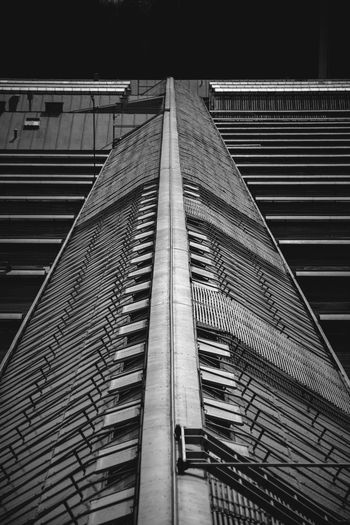 EyeEm Best Shots EyeEmNewHere Architecture Blackandwhite Building Building Exterior Built Structure City Metal Modern Night No People Office Railing Sky Tall - High