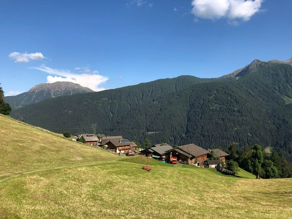 Italy Italia Italien South Tyrol Ultental Alto Adige Südtirol Mountain Sky Scenics - Nature Plant Beauty In Nature Landscape Land Tranquility Tranquil Scene Day Environment Mountain Range No People Cloud - Sky Green Color