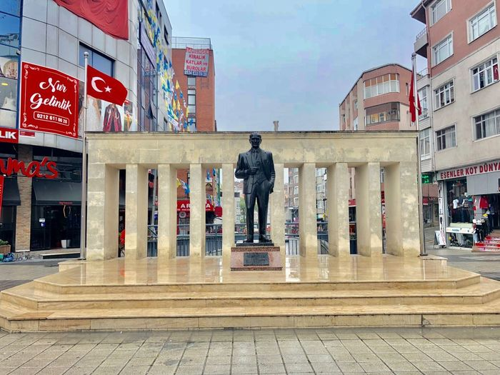 Esenler / ATA Anıt Atatürk PhonePhotography Photography Istanbul Architecture Built Structure Building Exterior City One Person Real People Day Full Length Street Human Representation Lifestyles Nature Men Outdoors Art And Craft