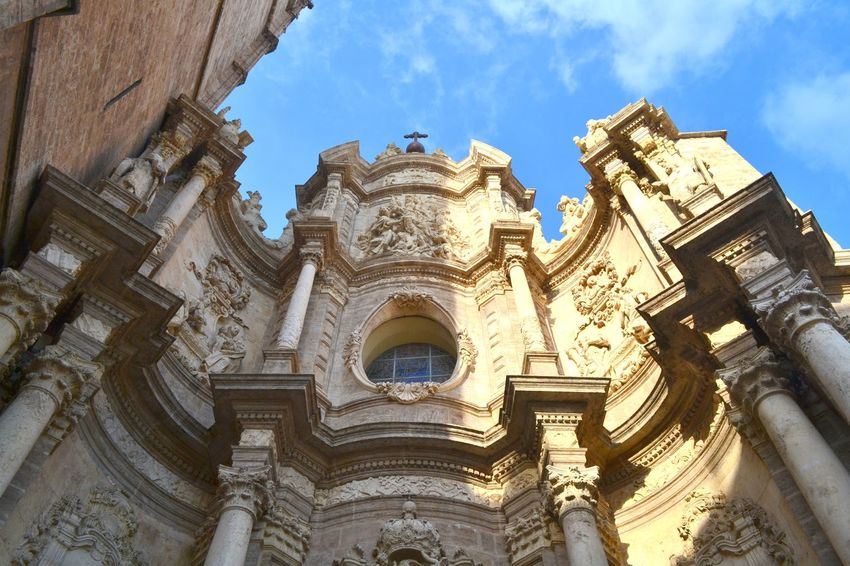 Architecture Architecture Barocco Architecture Blue Building Exterior Buildings & Sky Built Structure Church City Day History Low Angle View Maestosità No People Outdoors Place Of Worship Religion Rose Window Sky Sky And Clouds SPAIN Travel Destinations Valencia, Spain Vistadalbasso