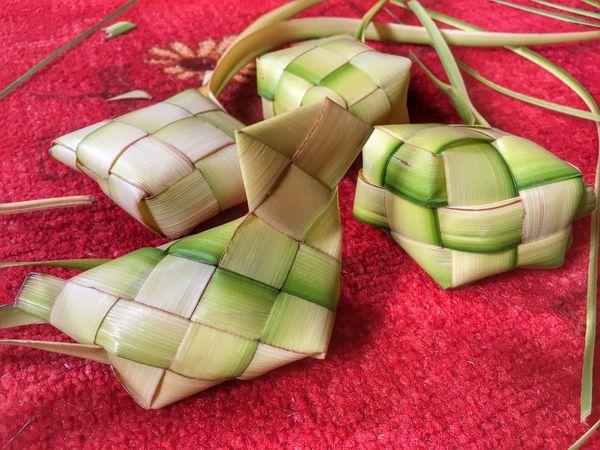 Green Color Multi Colored No People Indoors  Red Variation Wrapped Close-up Day Ketupat Varieties Anyamketupat Eid Mubarak EyeEmNewHere The Week On EyeEm