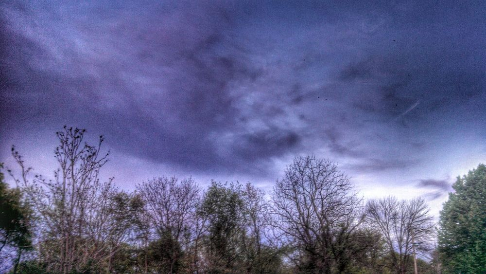 Stormy Sky Filtered Clouds And Sky A Walk In The Woods