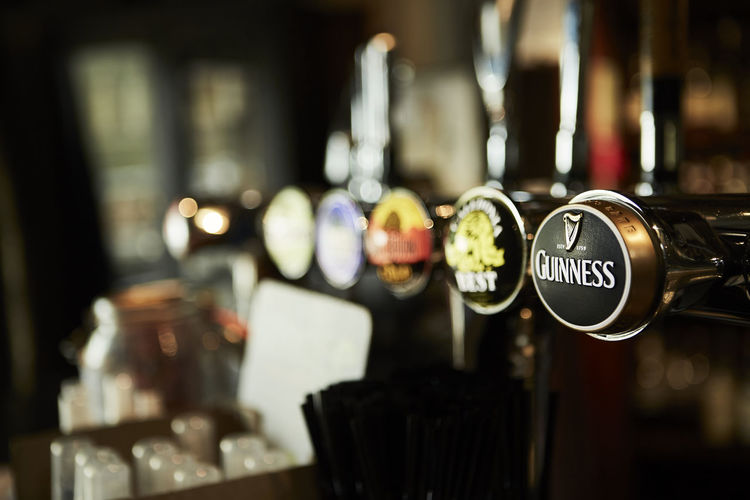 Focus On Foreground Indoors  No People Close-up Business Food And Drink Text Selective Focus Bar - Drink Establishment Drink In A Row Choice Refreshment Variation Restaurant Cafe Metal Glass Retail  Western Script Bar Counter Highlands Scotland Scottish Details Nature Wonderful Colors Orkneys