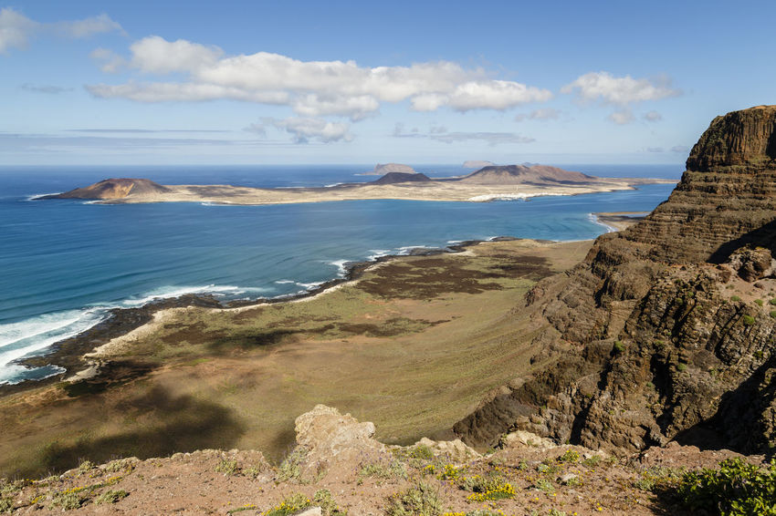 Lanzarote and La Graciosa, Canary Islands, Spain Canarias Canary Islands Copy Space La Graciosa Lanzarote SPAIN Beauty In Nature Canary Cloud - Sky Day Horizon Over Water Landscape Mountain Nature No People Outdoors Scenics Sea Sky Tranquil Scene Tranquility Water
