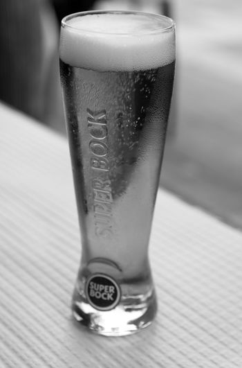 Black & White EyeEm EyeEm Best Shots EyeEm Bnw EyeEmBestPics Alcohol Beer Beer - Alcohol Beer Glass Black And White Blackandwhite Blackandwhite Photography Bnw Close-up Drink Drinking Glass Eye4photography  Focus On Foreground Food And Drink Glass Monochrome Refreshment Still Life Super Bock Table