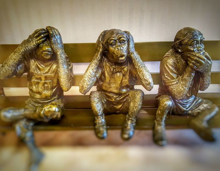 See No Evil, Hear No Evil, Speak No Evil Monkeys Part 4 Monkey Art Fine Art See No Evil, Hear No Evil, Speak No Evil Sculptures Monkeys Abstract EyeEm Perspective Photography Is My Therapy From My Point Of View Things You See Eye4photography  Eyeemphotography ForTheLoveOfPhotography Taking Photos