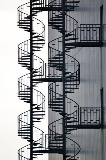 Spiral Staircases On Building