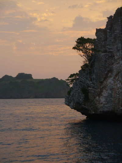 Andaman Andaman Sea Beauty In Nature Evening Sea Evening Sea And Sky Evening Sky Idyllic Islands Limestone Limestone Cave Limestone Islands Limestone Walls Nature Scenics Sea Sky Sunset Tranquil Scene Tranquility Water
