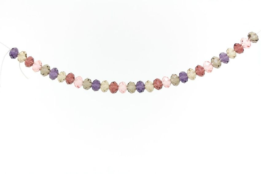 wine, opal, purple and pink swarovski crystals necklace on white background Beaded Jewelry Beads Close-up Crystals Day Necklace No People Studio Shot Swarovski Variation White Background