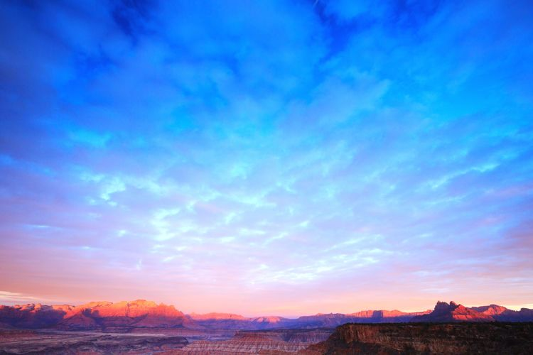 big landscape big sky Weather Zion National Park Outdoors Horizon Utah Southern Utah  Landscape Sky Sky And Clouds Mountain Sunset Tree Blue Multi Colored Illuminated Romantic Sky Dramatic Sky Atmospheric Mood The Great Outdoors - 2018 EyeEm Awards