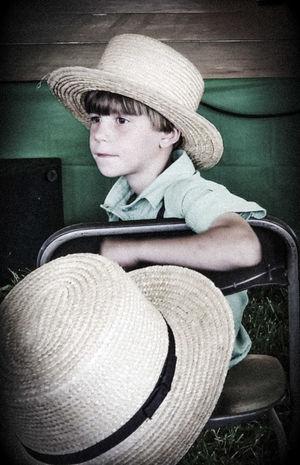 amish boys The Street Photographer - 2018 EyeEm Awards Headwear Sitting Sun Hat Warm Clothing Hat Close-up