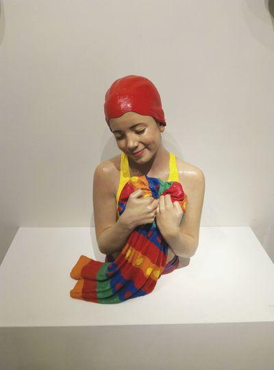 Portrait Human Body Part Studio Shot Indoors  Life Like Statue Exhibition Venice, Italy