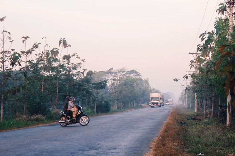 Vanishing Point Roadtrip Ontheroad Urban Nature mystic morning of Burma Myanmar