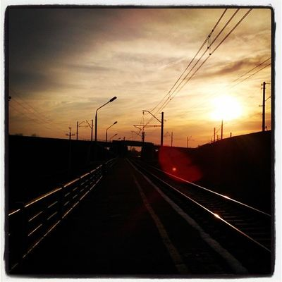 выставкаомск омск Закат платформатруд Omsk Siberia Sunset