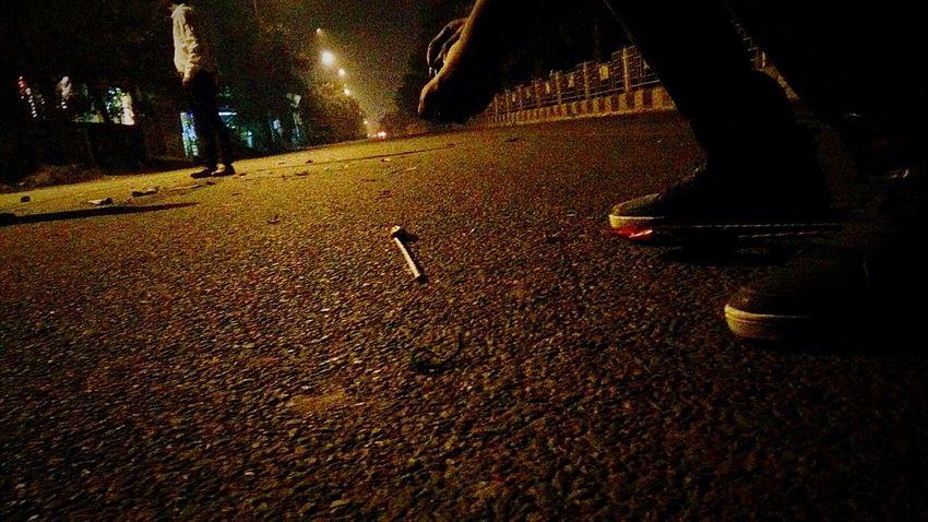 Not all the nights are boring . Sometime the are fun too (Diwali night ) Empty roads Firecrackers Diwali Nightfun Phtotography