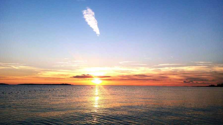 Sunset (with phone's camera) Enjoying Life Relaxing Croatia ♡ Croatia Sunset Sunset_collection Beach Sunset Adriatic Sea Istria No Stress Beauty In Nature Trivial Things Cherish The Moment Only One Sun On Earth