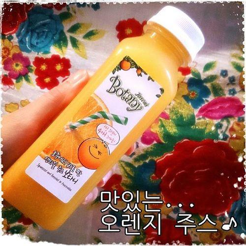 可愛いパッケージのオレンジジュース♪ 美味しい~♪ 맛있는 오렌지 주스 크크크♪ Botany 맛있는 오렌지주스 맛있는 기뻐 크크크 パッケージ可愛い オレンジジュース