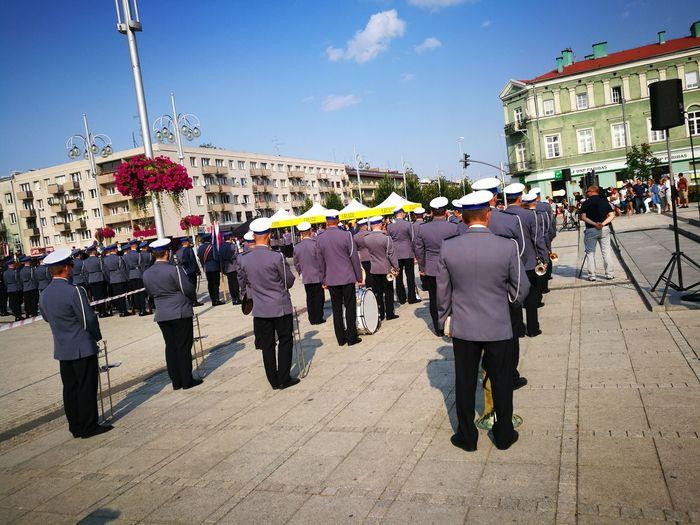 City Police Force Police Uniform Men Parade Celebration Uniform Sky Military Parade