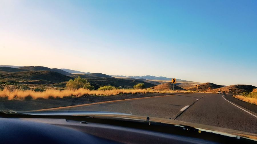 Cruisin USA Car Road Transportation Land Vehicle Driving Road Trip Highway Windshield Car Point Of View Journey No People Travel The Way Forward Landscape Mountain Desert Clear Sky Day The Great Outdoors - 2017 EyeEm Awards Outdoors Lifestyles Arizona EyeEm Nature Lover Samsungphotography Eye4photography
