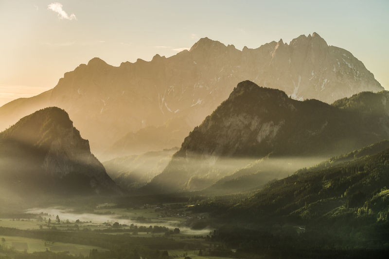 Austria Beauty In Nature Day Gesäuse Landscape Mountain Mountain Range Nature No People Outdoors Physical Geography Scenics Sky Styria Tranquil Scene Tranquility