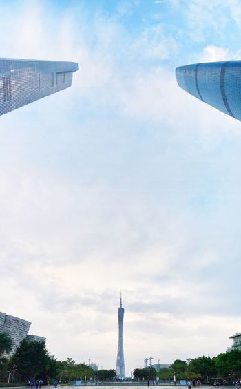 Canton Tower Full Angle Wide Shot Sky And Clouds Sky Lovers Three Points Cloud - Sky Architecture Cityscape Urban Exploregz The Graphic City Colour Your Horizn Stories From The City The Architect - 2018 EyeEm Awards