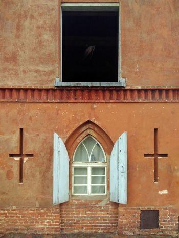Window Arch Façade Architecture Building Exterior Built Structure Cross Attic Gothic Gothic Architecture