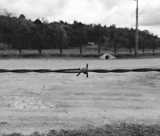.boundaries. Day No People Outdoors Sky Nature Limited Barbed Wire