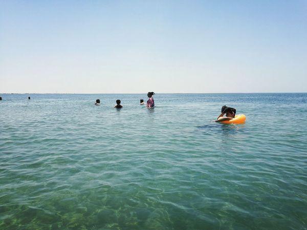 Swimming Sea Getting Tan