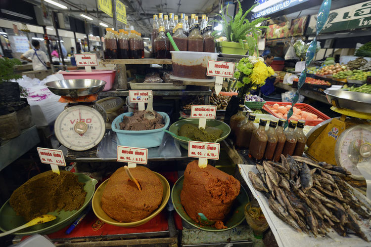 Variety Of Spices For Sale In Market