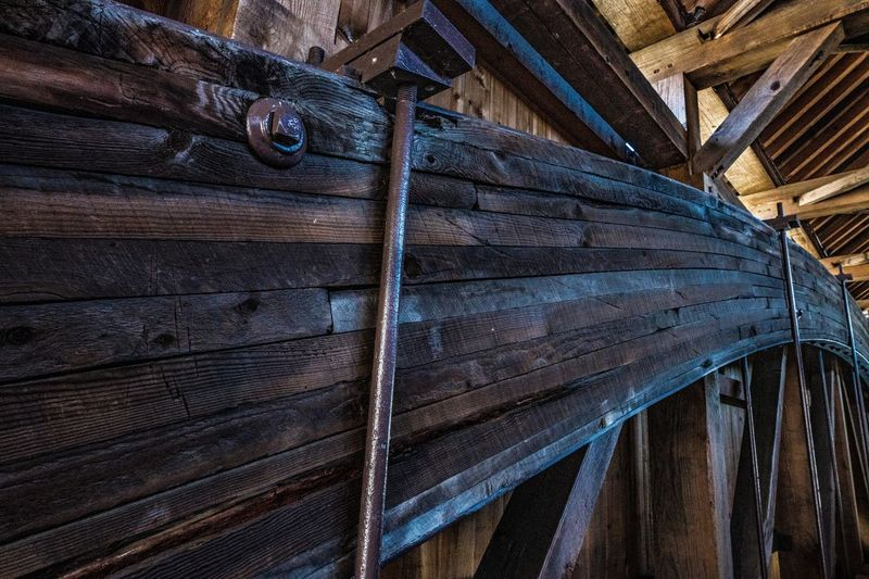 Wood - Material Brown Pattern No People Wood Low Angle View Architecture Built Structure Log Cabin Textured  Indoors  Hut Old Weathered Timber Roof Stack Day Plank Ceiling Roof Beam Covered Bridge Over River