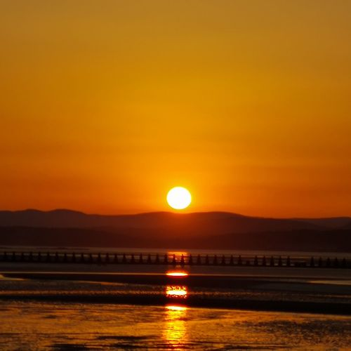 Water Sea Sunset Beach Beauty Mountain Horizon Wave Sun