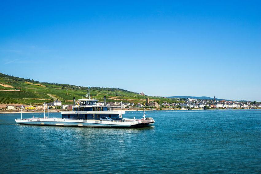 Bingen am Rhein Bingen Bingen Am Rhein Ferry German Maeuserturm Mäuseturm  Rhein Rheingau Rhine Boat Mittelrhein Mittelrheintal