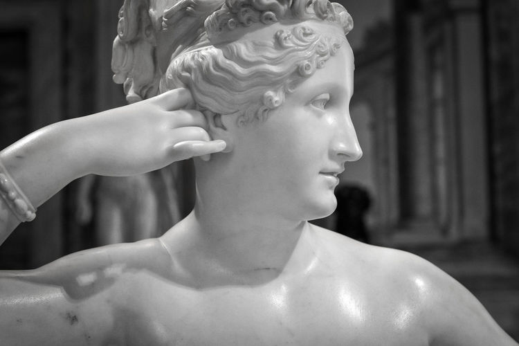 Galleria Borghese Canova Close-up Focus On Foreground Human Face Human Representation Paolina Bonaparte Statue Stone Material Young Adult